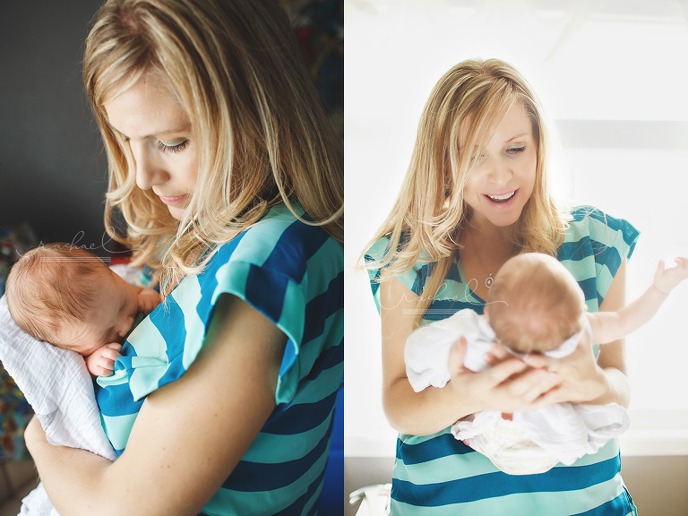 Denver Colorado in home lifestyle newborn photographer with mom, dad and toddler sibling